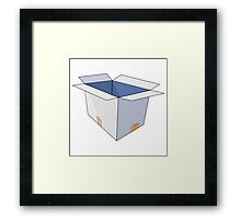 Open Cardboard Box Framed Print