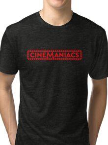 Cinemaniacs LOGO [on black] Tri-blend T-Shirt