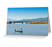 Fishing Boat on Lake Pend Orielle, Idaho Greeting Card