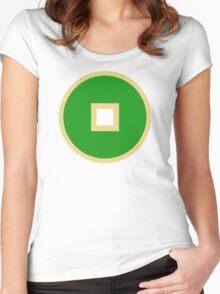 Minimalist Earth Kingdom Emblem Women's Fitted Scoop T-Shirt