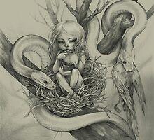 Snake Child (alternate colour) by fioski