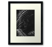 Nightstalker - Black Leopard Framed Print