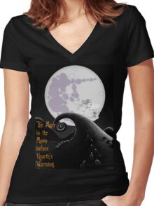 Mare in the Moon before Hearth's Warming Women's Fitted V-Neck T-Shirt