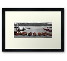 black and white with a tint of color Framed Print