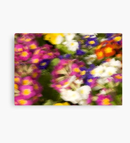 BRUSHLESS FLOWER PAINTING Canvas Print