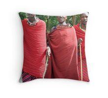 Masai Tribesmen Throw Pillow