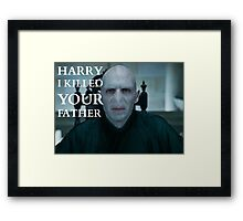 Harry I Killed Your Father Framed Print