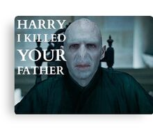 Harry I Killed Your Father Canvas Print