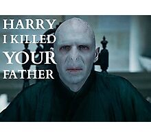 Harry I Killed Your Father Photographic Print