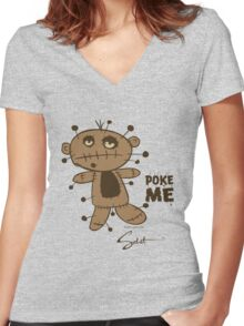 Poke Me! by Sabet Brands Women's Fitted V-Neck T-Shirt