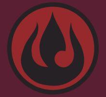 Minimalist Fire Nation Emblem by Telluric