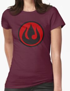 Minimalist Fire Nation Emblem Womens Fitted T-Shirt