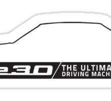BMW E30 M3, 3 series silhouette (light background) Sticker