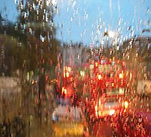 color of rain traffic by JuliePen