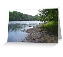 Ocoee River Banks Greeting Card