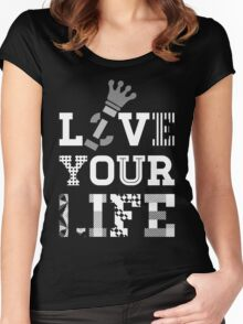 Live Love Your Life [White Ink Version 1] | OG Collection Women's Fitted Scoop T-Shirt