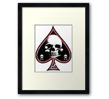 Ace of Spades Death Card Framed Print