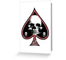 Ace of Spades Death Card Greeting Card