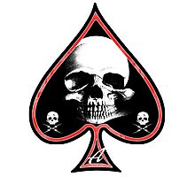Ace of Spades Death Card Photographic Print