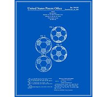 Soccer Ball Patent - Blueprint Photographic Print
