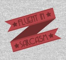 Fluent in Sarcasm Ribbons Kids Tee