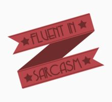 Fluent in Sarcasm Ribbons Baby Tee