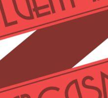 Fluent in Sarcasm Ribbons Sticker