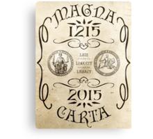 Magna Carta 800 Year Anniversary. Canvas Print