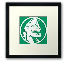 Happy Godzilla! Framed Print