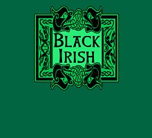 BLACK IRISH with Celtic Art Frame Unisex T-Shirt