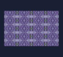 Purple Peacock Pattern Baby Tee
