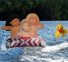 WEEE > SPLISH SPLASH CABBAGE PATCH KIDS (DOLLS) AND DUCK HAVING FUN IN THE WATER by ✿✿ Bonita ✿✿ ђєℓℓσ