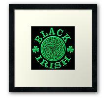 BLACK IRISH with Celtic Art Framed Print