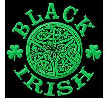 BLACK IRISH with Celtic Art Photographic Print