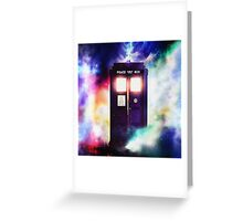 Tardis Cloud Art Painting Greeting Card