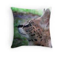 Young Serval Throw Pillow