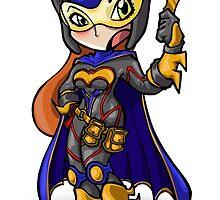 Batgirl Ame comi Style by Bunleungart
