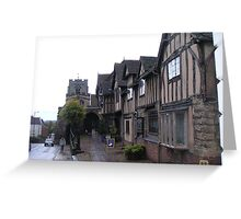 400 year old buildings in Warwick, UK Greeting Card