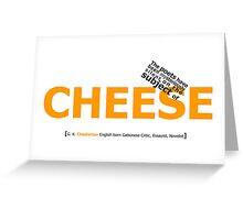 Cheese Greeting Card