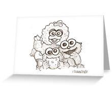 baby cookie mnstr n frnds Greeting Card