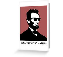Cool Abe Lincoln - Emancipatin' Haters Greeting Card