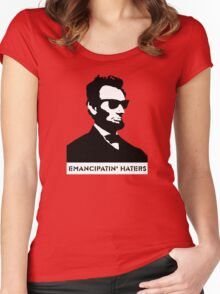 Cool Abe Lincoln - Emancipatin' Haters Women's Fitted Scoop T-Shirt