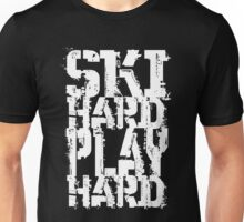 Ski Hard Play Hard [White Ink] | OG Collection Unisex T-Shirt