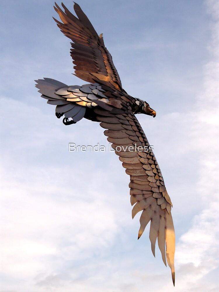 Burnished Eagle Free Flight by Brenda Loveless
