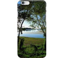 Lake Moondarra through the trees iPhone Case/Skin