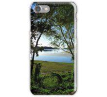 Lake Moondarra through the trees iPhone Case/Skin