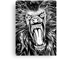 AMERICAN WEREWOLF IN LONDON BLACK AND WHITE Canvas Print