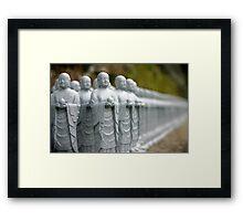 Statuettes in Kamakura Framed Print