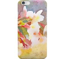 White Cherry Blossoms Digital Watercolor Painting 1 iPhone Case/Skin