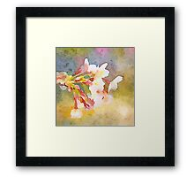 White Cherry Blossoms Digital Watercolor Painting 1 Framed Print